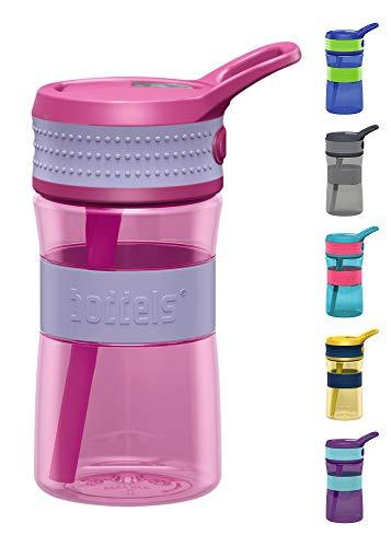 boddels Trinkflasche EEN 400ml - Deine Kindertrinkflasche für jeden Schultag (Lavendelblau/Pink) -
