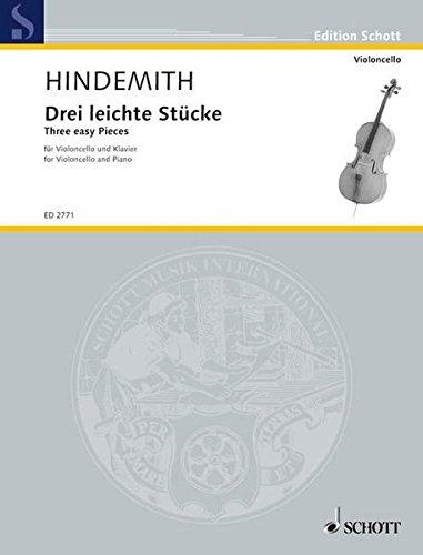 Drei leichte Stücke: (Violoncello in der 1. Lage). Violoncello und Klavier. (Edition Schott)