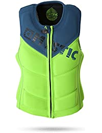 2017 Mystic Star Front Zip Wake Impact Vest Green 150565 Size - - Large