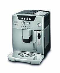 De'Longhi Magnifica ESAM 04.120.S Kaffeevollautomat | Großer 1,8 L Wassertank | Direktwahltasten & Drehregler | Profi Milchschaum-Düse | 13-Stufiges Kegelmahlwerk | Herausnehmbare Brühgruppe | Silber