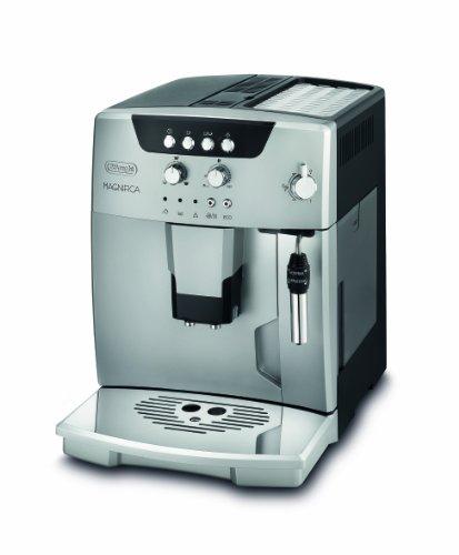 De\'Longhi Magnifica ESAM 04.120.S Kaffeevollautomat | Großer 1,8 L Wassertank | Direktwahltasten & Drehregler | Profi Milchschaum-Düse | 13-Stufiges Kegelmahlwerk |  Herausnehmbare Brühgruppe | Silber
