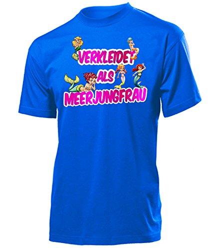 Meerjungfrau 4998 Karneval Fasching Kostüm Herren Männer Märchenkostüm Outfit Klamotten Obertei T-Shirt Faschings Karnevals Motto Party Blau XL
