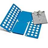 Hosaire Tabla para doblar adulto vestidos pantalones camisas Doblador de ropa Plegable azul