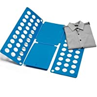 Kanggest Azul Tabla para Doblar con Agujeros para Niños Vestido Pantalones Camisas Ropa Plegable