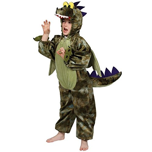 Dinosaurier Fancy Kostüm Halloween Kinderkostüm Gr.-Medium-/5-6 Jahre, Grün