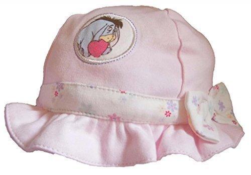 Ex-Store - Baby Mädchen Disney Eeyore Sommer Mütze Kappe 100% Baumwolle - Rosa, 6-9 Monate