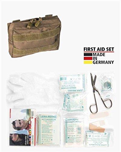 irst Aid Set Leina pro 25-tlg sm Erste Hilfe Set Molle mit Tasche + BKL1 Dosenöffner 1362