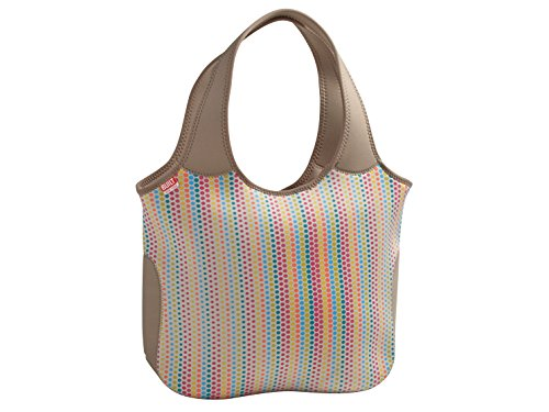 Built NY Essential Candy Dot Tote, Neopren, mehrfarbig (Tote Double Long Handle)