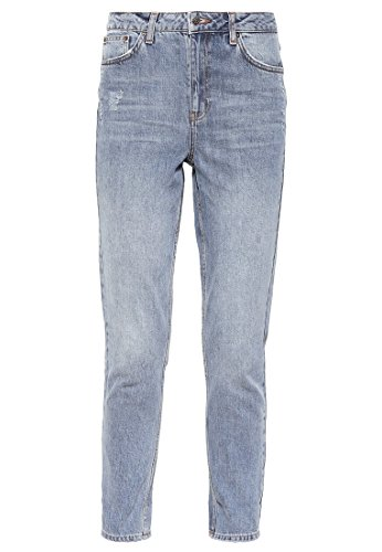 Topshop MOM Damen Jeans Relaxed Fit Grey denim W30/L32