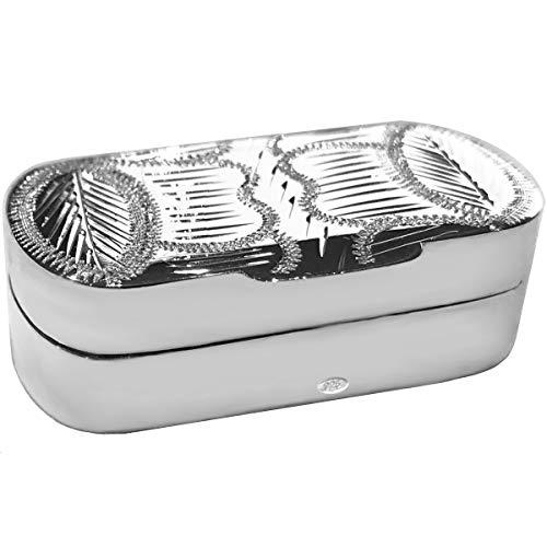 SILBERKANNE Zahndose, Haardose, Pillendose 4,0x2,0x1,3 cm Silber 925 Sterling in Premium Verarbeitung