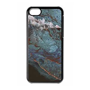 iPhone 5c Cell Phone Case Black Satellite Imagery and Topographic Maps Moibg