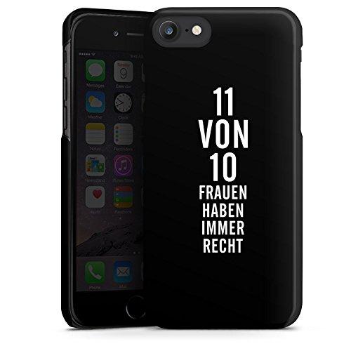 Apple iPhone X Silikon Hülle Case Schutzhülle Lustig Frauen Sprüche Hard Case schwarz