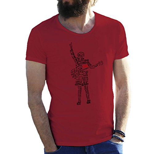 Acdc Songs Art Sketch Angus Borgoña Camiseta para hombre Large