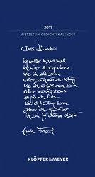 Wetzstein Gedichtekalender fürs Jahr 2011