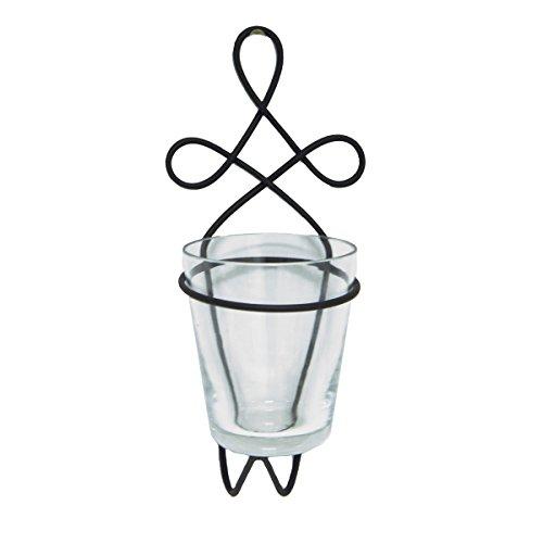 Varia Living 12 Stück Wandteelichthalter/Wandvase Metall Euramit Glaseinsatz - Teelichthalter für schöne Wandgestaltung mit Kerzen als Wandwindlicht oder Wandvase