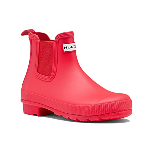 Damen Hunter Original Chelsea Schnee Regen Wasserdicht Knöchel Stiefel EU 36-43 Helle Koralle
