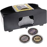 Baoblaze Barajador Mezclador Automático Electrónico para Juego Continuo de Cartas - Barajador w/Dealer, Big Blind, Small Blind