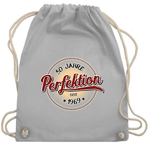 Geburtstag - 50 Jahre Perfektion seit 1969 - Unisize - Hellgrau - WM110 - Turnbeutel & Gym Bag (Den In Fünfziger Mädchen Jahren)