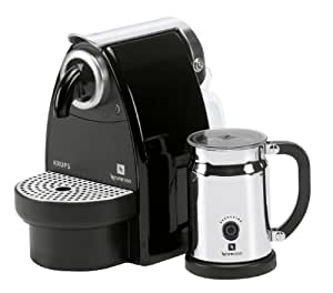 Krups Coffee Maker Capsules : Nespresso Essenza Auto by Krups XN2120AP Coffee Machine Bundle with Aeroccino, Black: Amazon.co ...