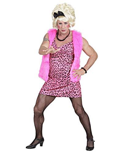 Travestie Kostüm - 3-TLG. 80er Jahre Drag Queen Herrenkostüm für Karneval & Mottopartys