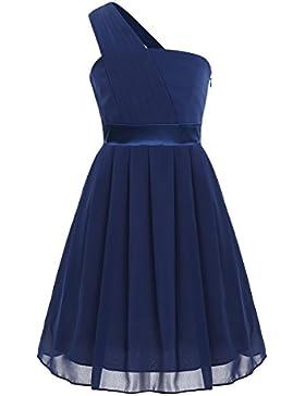 iEFiEL Vestido Plisado de Princesa Ceremonia para Niña Vestido de Fiesta Bautizo Boda Infantil