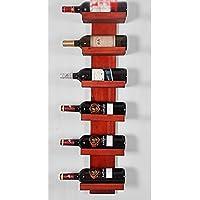BTJJ Estante Moderno Minimalista del Vino de Madera Sólida, Estante Creativo del Vino de la Ejecución de la Pared, Estante del Vino de la Decoración del hogar del Restaurante de la Barra