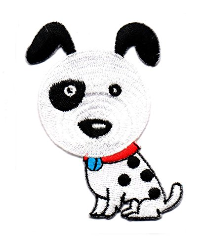Hund Dalmatiner Welpe Pet Cartoon niedliche Kinder Tier Kinder Cartoon Patch für Heimwerker-Applikation Eisen auf Patch T Shirt Patch Sew Iron on gesticktes Badge Schild Kostüm (Smile Dog Kostüm)