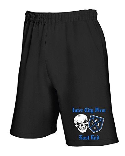 Cotton Island - Pantalone Tuta Corto TR0073 inter city firm icf east end t-shirt Nero