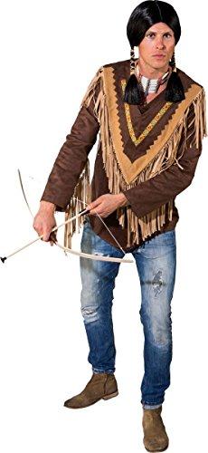 Indianer Poncho Kostüm - Orlob Herren Kostüm Zubehör Western Indianer