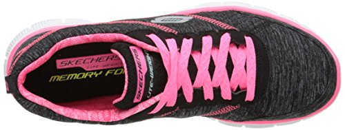 Skechers Flex Appeal Pretty City Damen Sneakers Schwarz (Bkhp)