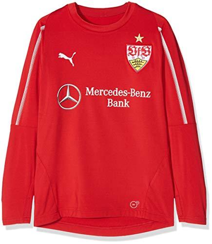 PUMA PUMA Kinder VfB Stuttgart Training Sweat Jrwith Sponsor Sweatshirt, Ribbon Red White, 128
