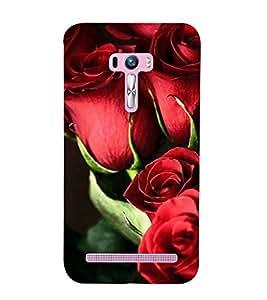 BUNCH OF RED ROSES DEPICTING NATURE 3D Hard Polycarbonate Designer Back Case Cover for Asus Zenfone Selfie :: Asus Zenfone Selfie ZD551KL