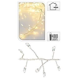 AiO-S - OK Lichterkette LED warm weiß White Cluster Lights Silberdraht Drahtlichterkette