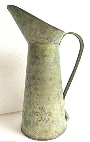 Metallkanne Zinkkrug Kanne Krug Zink Vase Dekokanne Metall Shabby Landhausstil