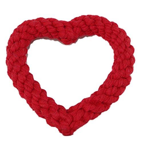 Demarkt Pet Haustierbaumwolle Seilspielzeug Liebe werfen Spielzeug Modellierung Haustier Hund beißt Seil
