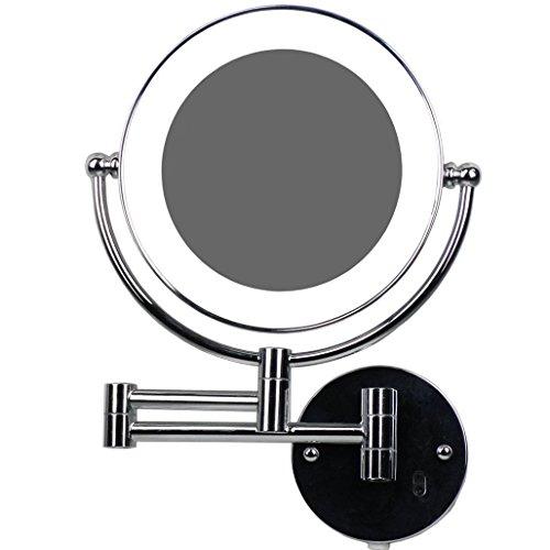 LOYWE LED Beleuchtet wunderschöne Kosmetikspiegel 1+7Fach mit Infrarot-Sensor (3cm extra dick)...