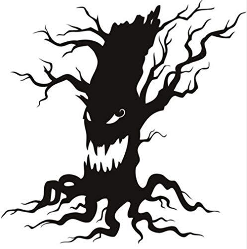 Myvovo Haunted Baum Scary Halloween Wandaufkleber Knurren Saisonale Wohnkultur Kunst Aufkleber Ungiftig Pvc Tapete Hohe Qualität Wandbild 50 * 50 Cm