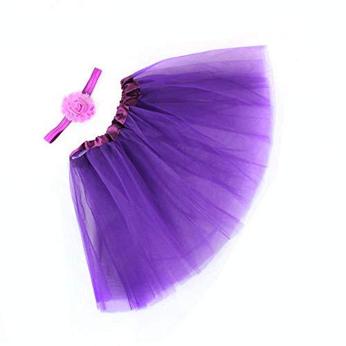 MAYOGO Kinder Tüllrock 50er Kurz Tutu Ballet Tanzkleid Blumenmuster Unterkleid Cosplay Crinoline Petticoat für Rockabilly Kleid Karneval Party Rock (Ski Kostüm Mädchen)
