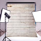 #9: SLB Works Brand New 3x5FT Wooden Wall Vinyl Cloth Photography Backdrop Photo Background Studio Props