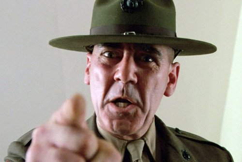 Moviestore R. Lee Ermey als Gny. Sgt. Hartman in Full Metal Jacket 91x60cm Farb-Posterdruck