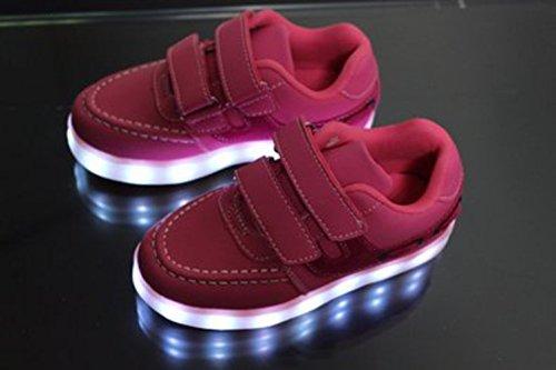 (Présents:petite serviette)JUNGLEST® Enfants fille garçon a mené la lumière jusquà formateurs de sneakers chaussures de sport Chaussures red