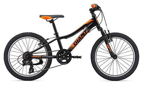 GIANT XTC Junior JR 20 - Bicicleta Infantil de montaña con Rueda de 20 Pulgadas, Color Negro y Naranja...