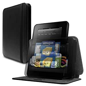 """Marware Revolve Genuine Leather Rotating, Standing Case for Kindle Fire HD 8.9"""", Black (will only fit Kindle Fire HD 8.9"""")"""
