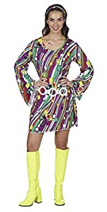 Andrea Moden 1877-44/46adultos Disfraz Retro vestido, mujer, multicolor, 44/46