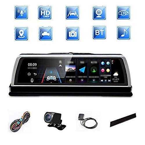 Dash Cam/Mittelkonsole/Vollbild-Streaming/Media Driving Recorder / 12-Millionen-Pixel/Android Navigator/Bluetooth fürs Auto / 170 ° -Weitwinkel-Doppelaufnahme vorne und hinten - 8 Gb Dash