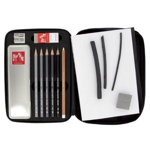 Preisvergleich Produktbild CARAN d'ACHE - GRAPHITE LINE BOOK Reiseetui / Geschenkset in Metallbox schwarz