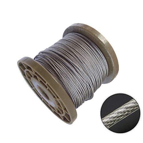 5 Meter Stahl PVC-beschichtetes Flexibles Drahtseil Weiches Kabel Transparente Wäscheleine aus Edelstahl,diameter0.8mm