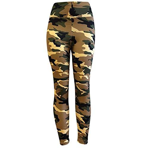 Felz Mujer Pantalones de Yoga Estampados de Camuflaje Leggins para Mujer Cintura Alta Delgados Color sólido Leggings Elasticos Mujer para Trainning Fitness