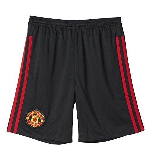 adidas Kinder Manchester United Auswärts Shorts Fußball Hosen 2015/16 Schwarz - Schwarz, unisex-kind, 15-16 Jahre - United Auswärts Manchester