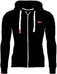 7f6a5073ef5a39 Merish Sweat capuché zippé Slim Fit pour Hommes Gilet de Sport Moderne et  Casual Design Modell